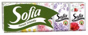 Платочки носовые SOFIA 4 слоя