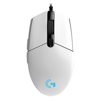 Logitech Gaming Mouse G102  LIGHTSYNC RGB lighting, 6 Programmable buttons, 200- 8000 dpi,  Onboard memory, White