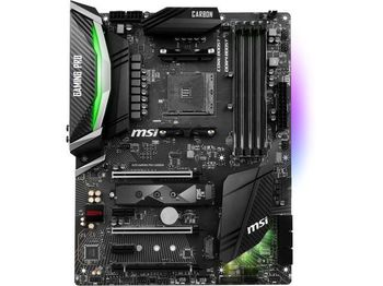MSI X470 GAMING PRO CARBON, Socket AM4, AMD X470, Dual 4xDDR4-3466, APU AMD graphics, HDMI, DP, 3xPCIe X16, 8xSATA3, RAID, 2xM.2 slot, 3xPCIe X1, ALC1220 7.1ch HDA, GbE LAN, 2xUSB3.1 Gen 2 (Type-C & Type-A), 8xUSB3.1, RGB Mystic Light, ATX