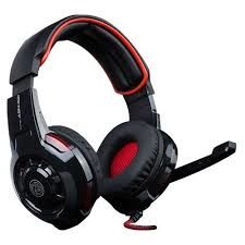 "MARVO ""Ice Dragon ASH-521"", Gaming Headset, Microphone, 40mm driver unit, Volume control, Adjustable headband, 3.5mm jack, Braided cable, 2.7m, Black-Red"