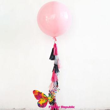 cumpără Big Ballon Roz pal cu demisiunea mare cu ghirlandă tassel în Chișinău