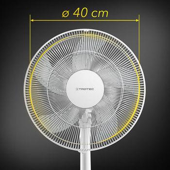 Вентилятор с ножкой 48Вт белый TROTEC TVE24S