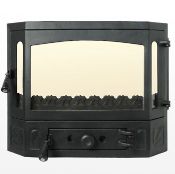 Дверца чугунная со стеклом Weekend - Lux