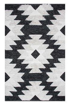 Ковёр ручной работы E-H AFRO KILIM, AFR 01 BLACK WHITE 120*180