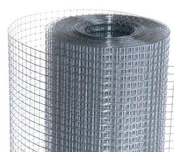 купить Сетка сварная оцинкованная 12 x12, Д - 0.8 mm, H-1m в Кишинёве