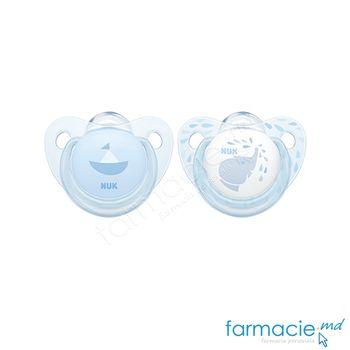 купить Suzeta NUK latex Baby Blue 6-18 luni in cutie (734013) в Кишинёве