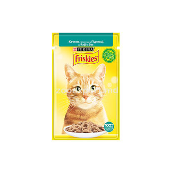 купить FRISKIES Adult c уткой в подливе 100gr в Кишинёве