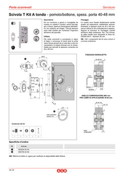 Комплект ручек для раздвижных дверей B039345034 хром сатин