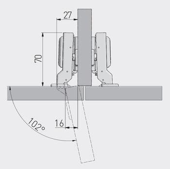 Balama semiaplicată cu amortizor GTV