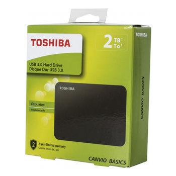 """2.5"""" External HDD 2.0TB (USB3.0)  Toshiba """"Canvio Basics""""  HDTB420EK3AA, Black"""