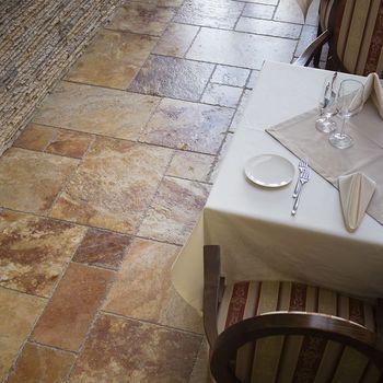 купить Персиковый травертин с французским орнаментом 1,2 см в Кишинёве
