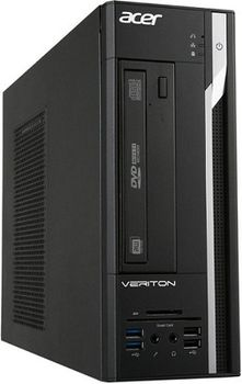 Acer Veriton X4110G SFF (DT.VMAME.004) AMD® A6-7400B 3.5 GHz, 4GB DDR3 RAM, 1TB HDD, AMD® Radeon HD Graphics, 220W PSU, FreeDOS, USB KB/MS, Black, 3 Year Warranty
