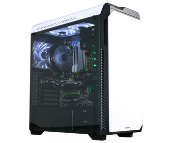 """ZALMAN """"Z9 NEO PLUS White"""" ATX Case, with Side-Window (Full Acryl), without PSU, Metal brush front door (with soundproof pad), Tool-less, 5 fans pre-installed (3x120mm Blue LED fan, 2x120mm fan), VGA/FAN multi guide, 2xUSB3.0, 2xUSB2.0 /Audio, White"""