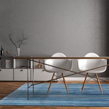 купить Ковёр ручной работы LOUIS DE POORTERE Atlantic Blue Stripes 8485 в Кишинёве