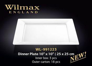 Тарелка WILMAX WL-991223 (обеденная 25 x 25 см)