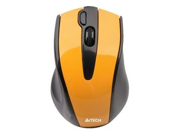 cumpără Wireless Mouse A4Tech G9-500F-2, Optical, 800-2000 dpi, 4 buttons, V-Track, 4D Scroll, 1xAA, Yellow în Chișinău