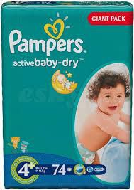 PAMPERS  GIANT PACK  4+ (9-16 kг) (74 шт.)