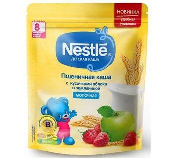 купить Nestle каша пшеничная молочная с земляникой и яблоком, 8+мес. 220г в Кишинёве