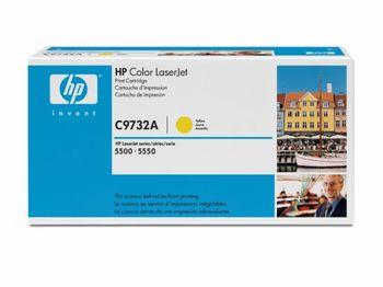 HP Color LaserJet 5500/5500N/ 5500DN/5550/5550N/5550DN  Smart Print Cartridge, Yellow C9732A
