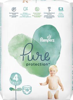 купить Подгузники Pampers Pure Protection 4 (9-14 kg) 19 шт в Кишинёве