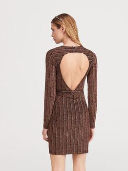 Платье RESERVED Черный/коричневый