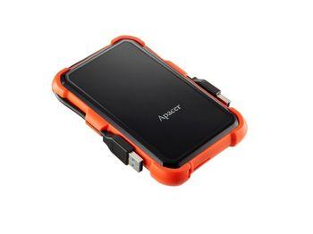 """cumpără 1.0TB (USB3.1) 2.5"""" Apacer AC630 Military-Grade Shockproof Hard Drive, Black-Orange (AP1TBAC630T-1) în Chișinău"""