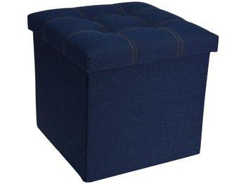 Табурет-ящик для хранения 38X38X38cm джинса