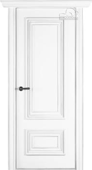 купить Дверь ПАЛАЦЦО 2 эмаль белый патина серебро глухая в Кишинёве