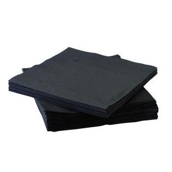 Столовые салфетки, 2str, 33x33, 200шт, черный, Advanced