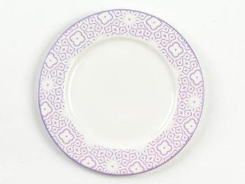 Тарелка десертная 20.5cm Ambra, сиреневая, керамика