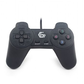 Gembird JPD-UB-01 Universal programmable gamepad, 4-way D-pad and 10 buttons, USB 2.0, 1.45m, Black