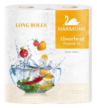 Полотенца бумажные Harmony Absorbent Practik XL Long Rolls 2 слоя 21м*2