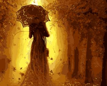 Картина по номерам 40х50 Осенняя фея