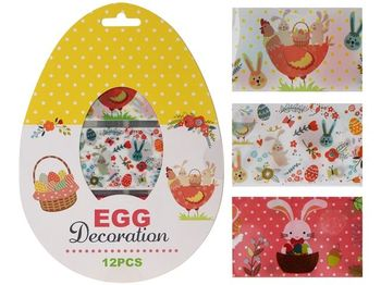 Набор термо- этикеток для яиц 12 листов по 3шт, 3 дизайна
