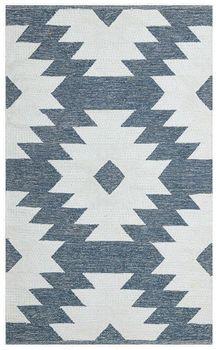 Ковёр ручной работы E-H AFRO KILIM, AFR 01 SKY BLUE WHITE NW 120*180
