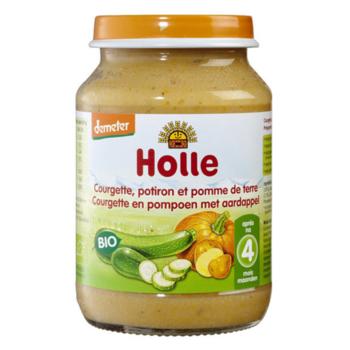 Пюре с картофелем, тыквой и кабачком с 6 месяцев Holle, 190 г