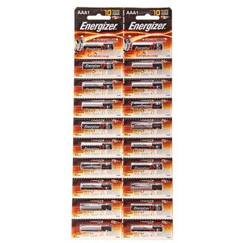 Energizer Power Alkaline AAA E92 BP20 (УПАКОВКА  AAA 20 шт, отрывная)
