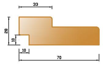 купить Брус коробочный МДФ 28*70, Итальянский орех - 2070 мм в Кишинёве