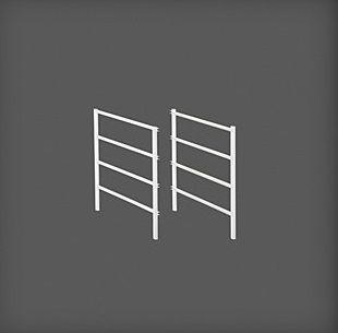 cumpără Set ramă pentru coșuri metalice, 4 rânduri 535x20x440 mm, alb în Chișinău