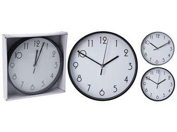 купить Часы настенные круглые D30.5cm, цвет черный/белый в Кишинёве