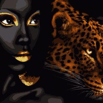 """PN6070 Картина по номерам Artissimo """"Африканская жемчужина"""", 4 *, 13 цветов, 50x60 см."""