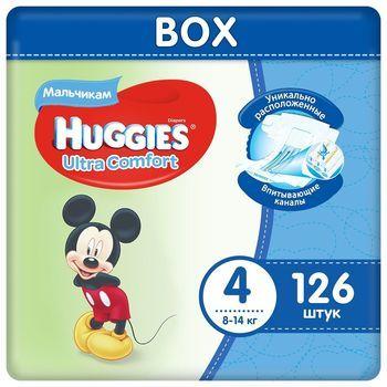 Подгузники Huggies Ultra Comfort Mega 4 Boy (8-14 kg) Disney BOX 126 шт