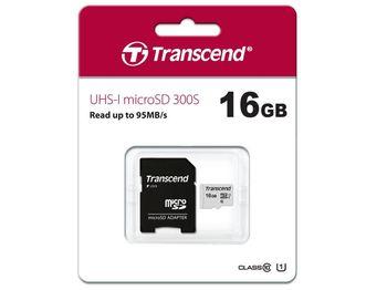 cumpără Transcend.16GB MicroSD (Class 10) UHS-I (U1) +SD adapter. în Chișinău
