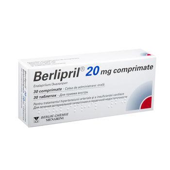 cumpără Berlipril 20mg comp. N10x3 în Chișinău