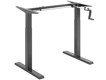Lumi N05-22D Compact Manual Sit-Stand Desk Frame with Square Column, 840~1300mm x 650mm x730~1230mm