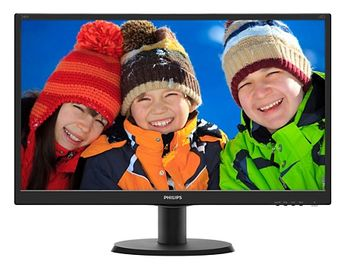 "23.8"" PHILIPS IPS LED 240V5QDSB Glossy Black (5ms, 20M:1, 250cd, 1920x1080, HDMI, DVI, Headphon-Out)"