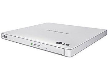 External DVDRW Drive LG GP57EW40, Portable Slim -14mm, Super-Multi DVDR+8x/-8x, RW+6x/-6x, DL+6x, RAM 5x, USB2.0, White, Retail