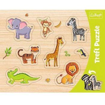 "Пазлы ""Frame Shaped Puzzles"" - Exotic animals / Trefl, код 43148"