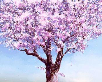 Картина по номерам 40x50 Розовое дерево RA3334
