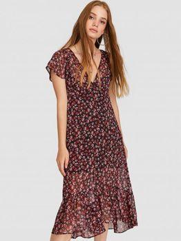 Платье Stradivarius Черный с принтом 6381/512/001